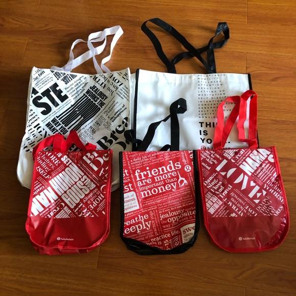 💥3/$35💥Lululeon Bags (Bundle of 5)